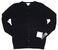 New LIZ CLAIBORN Women's Lightweight Cardigan Sweater Black Size Petite Medium