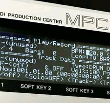 Akai MPC60 MK1 (Negative) Tri-Axis Black LED Display !