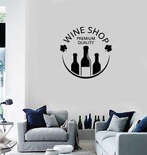 Vinyl Decal Wall Sticker Mural Decor Wine Vault Shop Bottle Alcohol (g105)