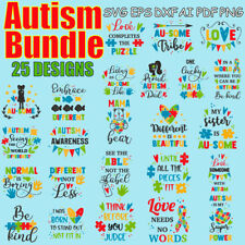 AUTISM SVG BUNDLE, Autism Puzzle, Autism Awareness, Autism Clipart svg/png/ai