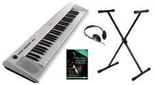 Yamaha np-12 portable stage piano e-piano piano école trépied Casque Blanc