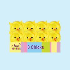 Easter Arts Craft Bonnet Decorations Egg Hunt - 8 Pack Mini Chicks