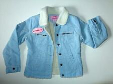 NWT Pink Platinum Sky Blue Cord Corduroy Sherpa Fleece Jacket M 8/10