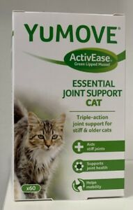 Lintbells | YuMOVE Cat | Hip and Joint Supplement for Stiff Cats, 60 Tabs