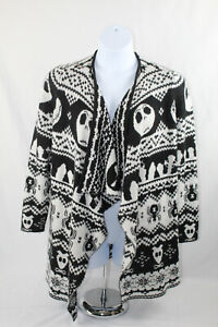 Disney The Nightmare Before Christmas Women's Open Front Cardigan Sweater, Large