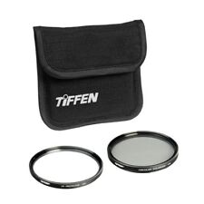 Tiffen 77mm UV Protection And Circular Polarizing Filter Photo Twin Pack NEW