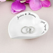 Free Text Ceramic Ring Dish Personalised Ring Dish Mr & Mrs Wedding Ring Dish