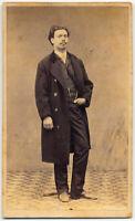 CDV Firenze Ritratto di uomo Dedica autografa Foto originale albumina 1860 S1575