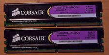 DDR2 Corsair CM2X1024-5400C4 2 x 1Go 675MHz CAS 4-4-4-12