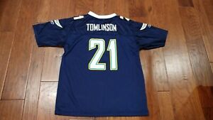 LaDainian Tomlinson San Diego Chargers Reebok Jersey Navy Youth Size XL