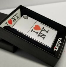 Zippo 24799 Classic I Love NY Polished Chrome Windproof Pocket Lighter