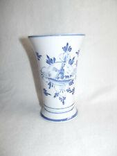 Blumenvase aus Porzellan mit holländischen Dekor
