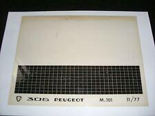 Ersatzteil Mikrofilm Planfilm Microfiche Peugeot 305 v. November 1977