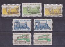 Horse Tramway railroad railway train  Bridge URUGUAY Sc#1378/82 MNH STAMP cv$14