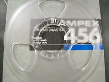"New Plastic Take Up Reel & Used Ampex Master Box 1/4"" 1/4 no tape 10.5""  10"""