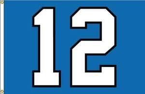 "12th Man NYLON Flag - 4 x 6 foot - Seattle Seahawks ""12"" NYLON Flag 4x6'"