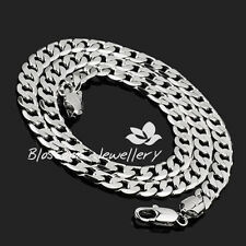 9K 9ct WHITE GOLD Layered OPEN LINK Chain Mens Womens NECKLACE 49.5gram 24""