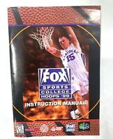 Fox Sports College Hoops 99 NINTENDO 64 N64 Instruction Manual Booklet Book ONLY