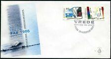 Aruba 22-23 FDC.Michel 16-17. Peace Year IPY-1986.Bird,Barbed wire