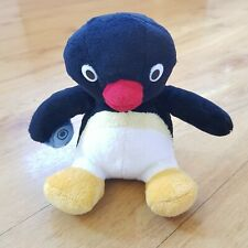 Pingu Plush Soft Toy Penguin Holding a Fish 2007 Hit Entertainment 7 inches