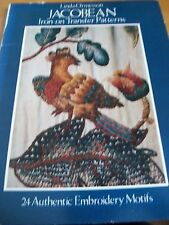 Jacobean Iron On Transfer Patterns by Linda Ormesson 24 Embroidery Motifs 1978)
