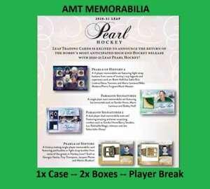 Tony Esposito 2020/21 20/21 Leaf Pearl Hockey 1X CASE 2X BOX BREAK #8