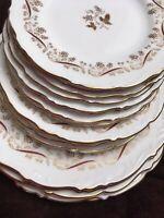 Coalport Burgundy Pattern Dinner Plates Salad And  Dessert Plates Dinner Service