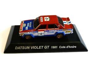 WOW EXTREMELY RARE Datsun Violet GT #4 Salonen Ivoire 1981 WRC 1:64 CM's Kyosho