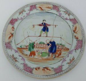 Ancienne assiette Compagnie des Indes ? Porcelaine de Chine ? décor chinois