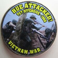 JFK KENNEDY HALF DOLLAR VIETNAM WAR - HUE ATTACKED! COLORIZED COIN UNC