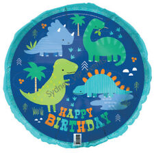 "45CM DINOSAUR FOIL BALLOON PARTY Helium 18""  BOYS BIRTHDAY BLUE DINO-ROAR GREEN"