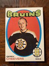 New listing 1971-72 TOPPS Hockey Card # 54 Boston Bruins GERRY CHEEVERS NrMt