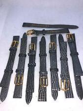 Gray Lizard Calf Leather Watch Bands #427 Lot Of 8 Jb Champion 3/8 10mm Reg