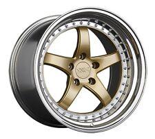 20x9/10.5 XXR 565 5x114.3 +35/40 Hyper Gold/Platinum Lip Wheels (Set of 4)