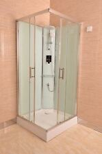 SHOWER CUBICLE WITH GLASS WALL 900X900X2200MM NEW