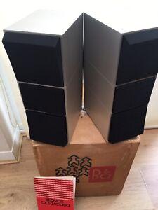Bang & Olufsen B&O Beovox CX100 Brushed Alluminium Speakers/Original Packaging.