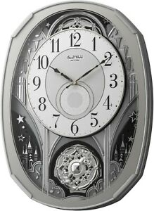 Rhythm Amazing Gala Musical Magic Motion Wall Clock 4MH878WU19 - Store Display