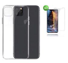 iPhone 11 Hülle Silikon Handy Schutz Cover TPU Case durchsichtig + 9H GLASS