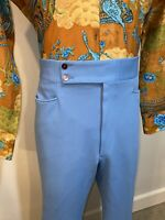 Vtg 60s 70s Mens 40 31 POLYESTER Leisure Suit Pants Stretch POLYESTER Disco Mod