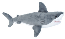 "Wild Republic Cuddlekins Mini 15"" Great White Shark Soft Toy Cuddly Teddy 22462"