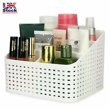 Cosmetic Storage Box 5 Compartments Toiletry Organiser Makeup Basket Weave Style