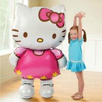 70*114cm Hello Kitty Helium Foil Balloon Kids Children Birthday Party Gift