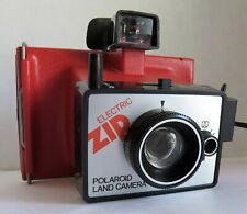 Electric Zip Polaroid Land Camera Vintage Red Untested