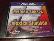 POCKET SONGS KARAOKE DISC PSCDG 1553 BRITNEY SPEARS JESSICA SIMPSON CD+G
