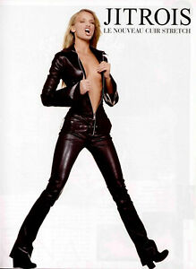 RARE Jitrois White Lambskin KILL Stretch Leather Catsuit sz 36 US 4 - 6 $4695