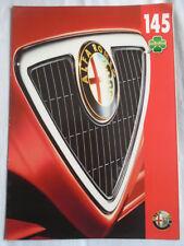 Alfa Romeo 145 Quadrifolglio brochure c1990's German text