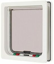 Large 4-way Cat Flap 221W Men S L White 5035473002218 by Cat Mate