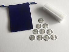 TEN 1/10 Ounce .999 Pure Silver Rounds Bullion ☆ Popular Walking Liberty Design