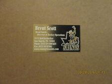 CHL San Angelo Saints Vintage Defunct Business Card
