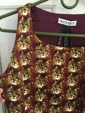 Modcloth Frock Shop Kitty Cat Face Dress Nwt Lined Xs